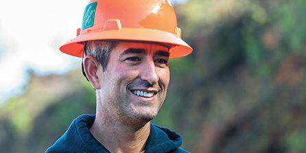 Gustafson Logging 三代目共同所有者 Chad Gustafson