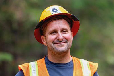 Frank Chandler, operations manager of C&C Logging