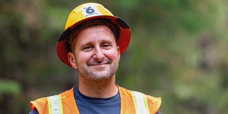 Frank Chandler, operations manager of C&C Logging