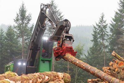 C&C Logging runs a new Waratah HTH623C LP head